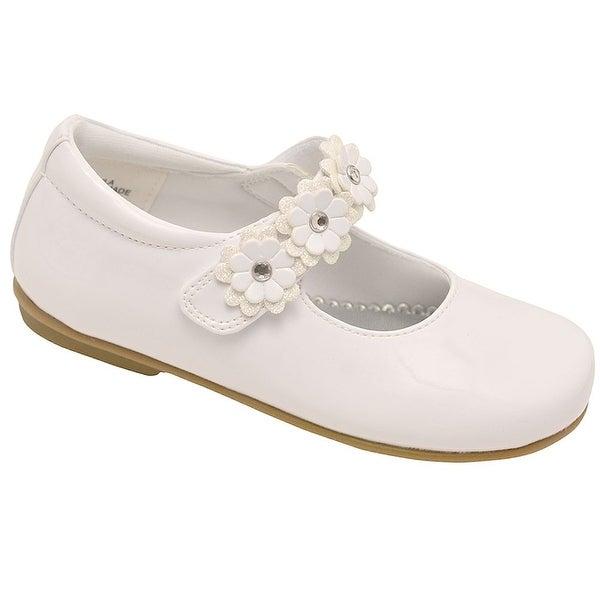 Shop Rachel Little Girls White Glitter Center Flower Mary Jane Shoes - Free  Shipping On Orders Over  45 - Overstock - 23086605 2753f726e7ab