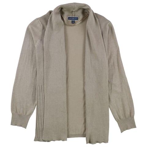 Karen Scott Womens Shawl Collar Cardigan Sweater, Brown, XX-Large