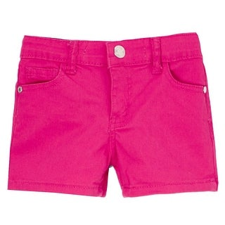 Mini Moca Little Girls Fuchsia Eye-Catchy Stretchy Trendy Denim Shorts (4 options available)
