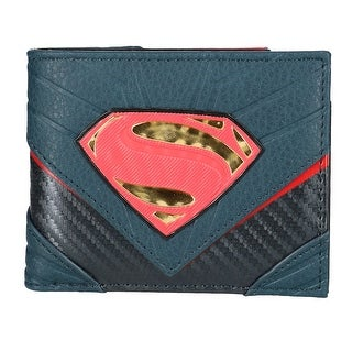 DC Comics Superman Bifold Wallet with Chrome Weld Patch