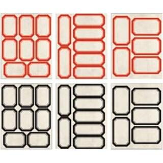 Red & Black - Idea-Ology Vial Labels 40/Pkg