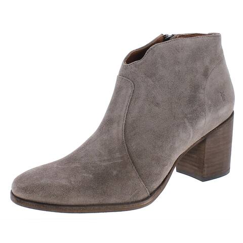 Frye Womens Nora Booties Suede Ankle - Elephant - 10 Medium (B,M)