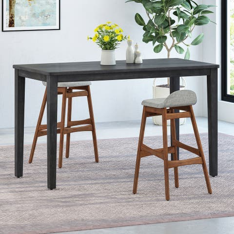 """Vesey Modern Acacia Bar Table by Christopher Knight Home - 34.75""""L x 64.50""""W x 42.00""""H"""