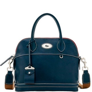 Dooney & Bourke Florentine Toscana Domed Satchel (Introduced by Dooney & Bourke at $448 in Sep 2016) - Navy
