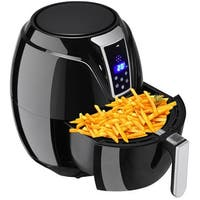 Gymax Electric Air Fryer 3.4Qt 1400W Oil-less Free Temperature and Time Control - Black