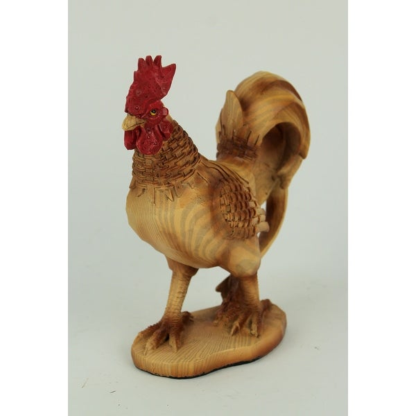 "Country Farmhouse Rooster Carved Textured Statue 7/"" Home Decor"