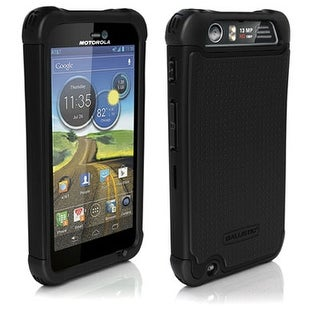 Ballistic Shell Gel Case for Motorola Atrix HD MB886 - Black/Black
