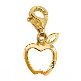 Julieta Jewelry Apple CZ Gold Sterling Silver Charm