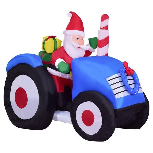 Walmart Christmas Decorations Indoor: Shop Costway 6' Indoor/Outdoor Inflatable Santa On Truck