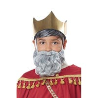 California Costumes Wise Man Child Beard and Moustache (Grey) - Grey - Standard
