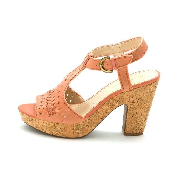 Adrienne Vittadini Womens Yanni Open Toe Casual Ankle Strap Sandals - 10