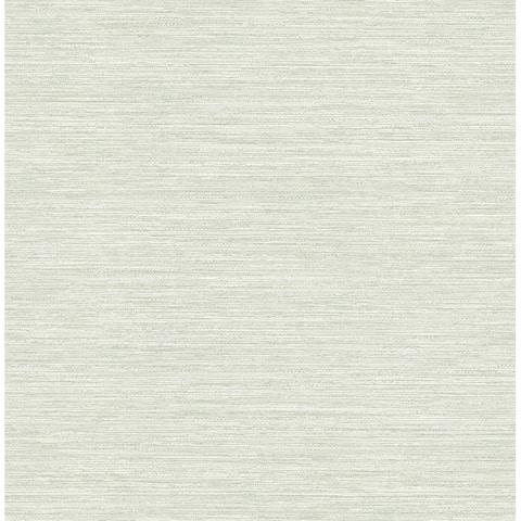 Cantor Light Green Faux Grasscloth Wallpaper