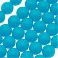 Czech Glass Round Party Beads 6mm - Neon Aqua (1 Strand / 29 Beads) - Thumbnail 0