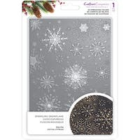 """Crafter's Companion 3D Embossing Folder 5""""X7""""-Sparkling Snowflake"""
