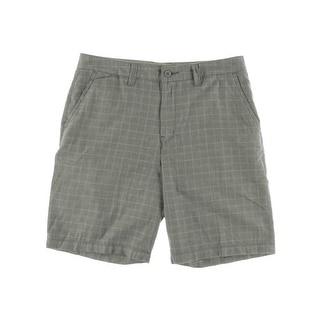 Quiksilver Mens Dos Playas Plaid Cotton Walking Shorts - 34
