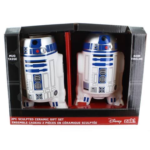 Star Wars R2-D2 Sculpted Ceramic Gift Set: Mug and Bank - Multi