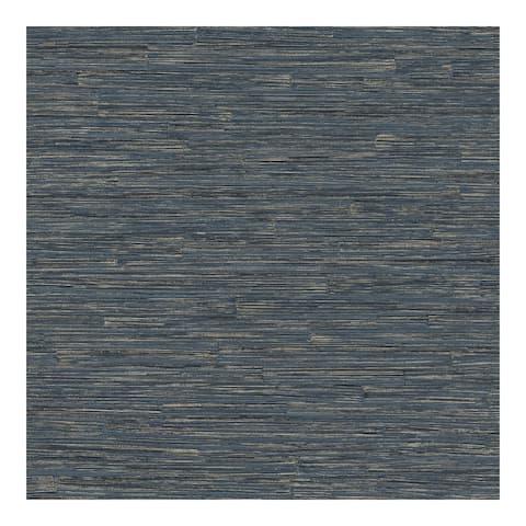 Hutton Dark Blue Tile Wallpaper - 21 x 396 x 0.025