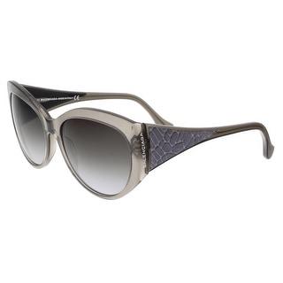 Balenciaga BA0023 20B Clear Gray Oval Sunglasses - Grey - 58-16-140