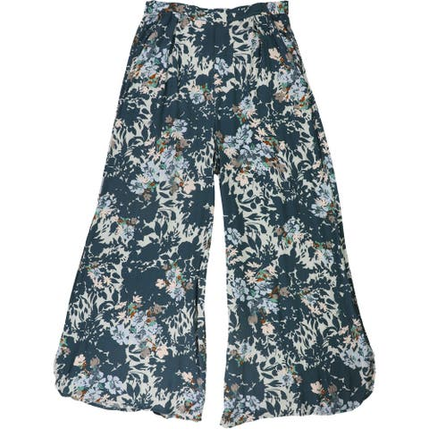 Free People Womens Floral Print` Casual Wide Leg Pants