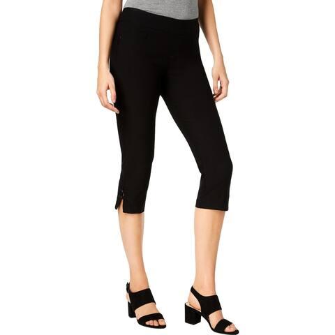 Lee Womens Elena Capri Pants Mid-Rise Embellished - 12