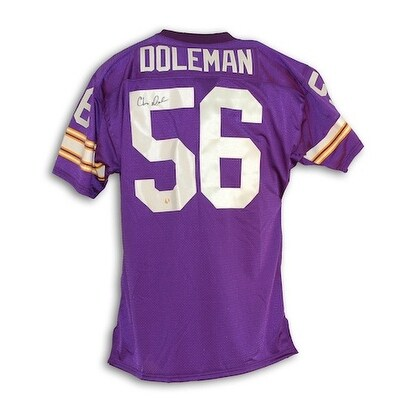 promo code 3f2dd 26ecf Autographed Chris Doleman Minnesota Vikings Purple Throwback Jersey
