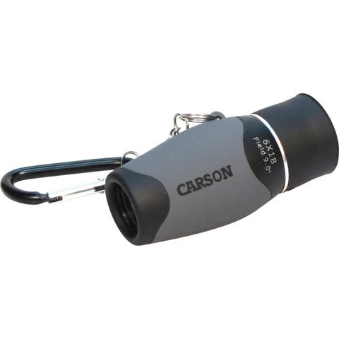 Carson mm-618 carson 6 x 18mm pocket monocular caribiner keychain