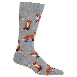 Hot Sox Men's Foxes Socks - Grey