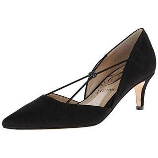 J.Renee Womens Veeva Glitter Criss-Cross D'Orsay Heels - 7 wide (c,d,w)