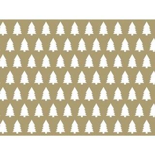"Kraft Trees 30"" x 25' Gift Wrap Roll"