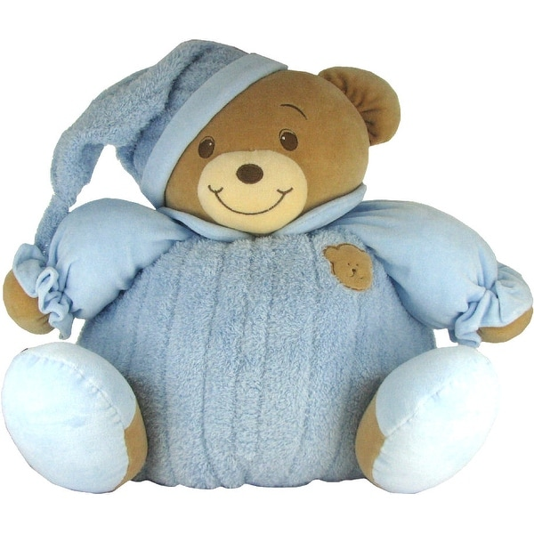 Baby Bow Huge Goodnight Stuffed Teddy Bear in Blue