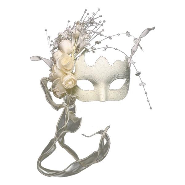 White Venetian Bridal Masquerade Mask