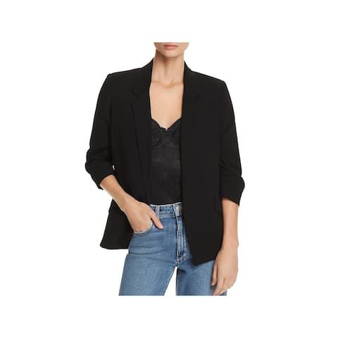 Bardot Womens Blazer Ruched 3/4 Sleeves