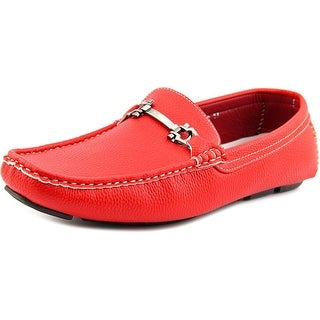 Enzo Romeo Payne Square Toe Leather Loafer