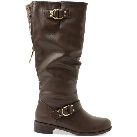 Xoxo Womens Minkler Leather Closed Toe Mid-Calf Fashion Boots