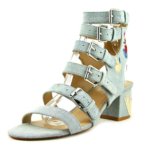 Gunmetal Doree 2 Women Open Toe Canvas Blue Gladiator Sandal