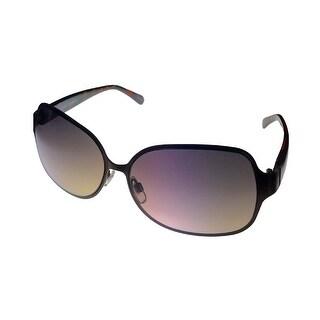 Ellen Tracy Womens Sunglass 509 2 Dk Matt Silver Metal Rectangle , Gradient Len