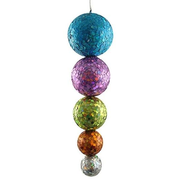 Multi-Color Glitter & Sequin Disco Ball Drop Christmas Ornament