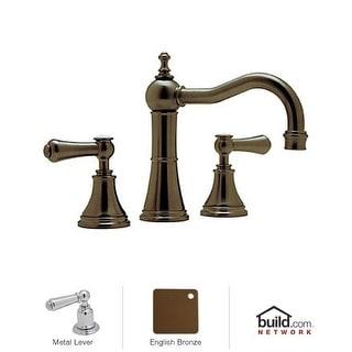 Rohl U.3723LS-2 Georgian Era Widespread Bathroom Faucet with Alsace Metal Lever