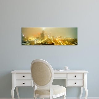Easy Art Prints Panoramic Images's 'USA, Georgia, Atlanta, Fog in Atlanta' Premium Canvas Art