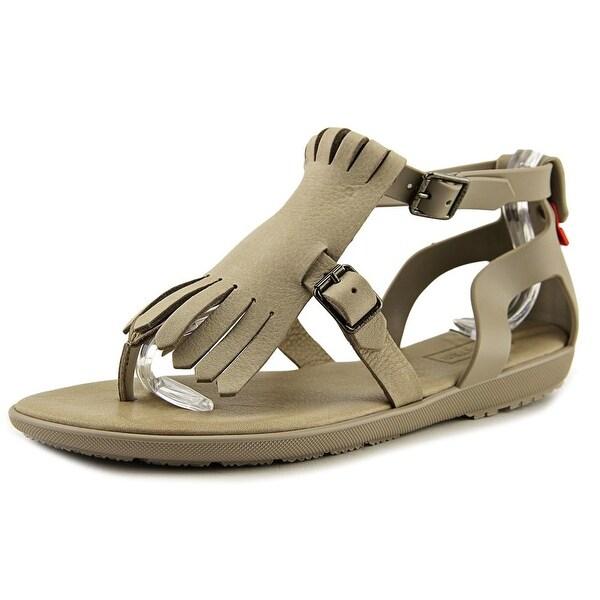 Hunter Original Fringe Sandal Women Open Toe Synthetic Gray Thong Sandal