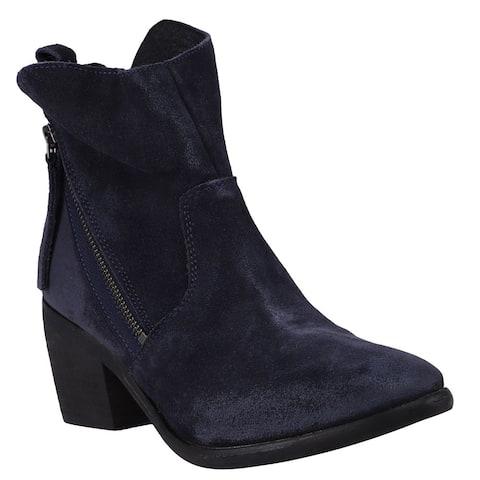 "Diba True Joan E Zippered Womens Boots Ankle Mid Heel 2-3"" - Blue"