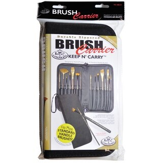 "Keep N' Carry Zippered Standard Brush Carrier-12.5""X11.25"" - Black"