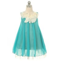 916c21bfd2bb Kids Dream Little Girls Turquoise Floral Lace Bodice Easter Dress 2T-14