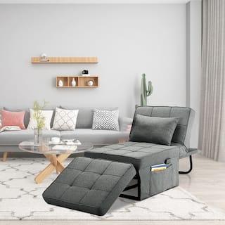 Ainfox Convertible Chair Ottoman Single Sleeper Sofa