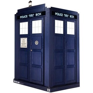 46 in. Square x 89 in. Tall 3D Tardis - Quick Setup Doctor Who Min