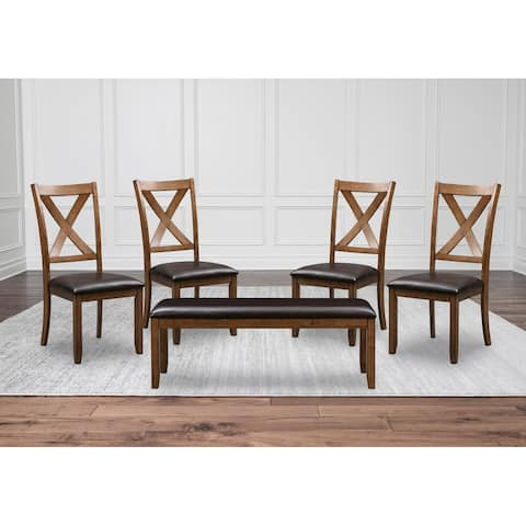 Abyson Russell Wood Dining Chair and Bench Set