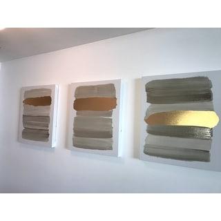 Carson Carrington Urban Habitat 'Traveling Road' 3-piece Printed Canvas with Gold Foil Set