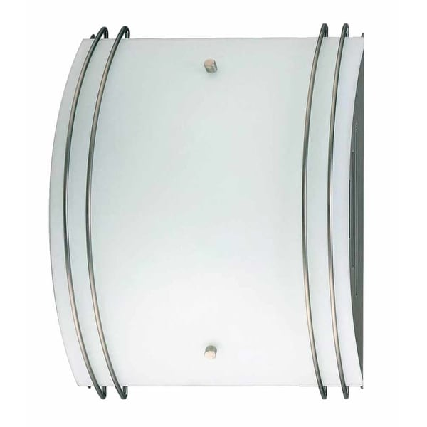 "Volume Lighting V6035 10"" Width Wall Washer Sconce with 2 Lights and White Glass"