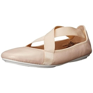 Easy Spirit Womens Yandra Leather Mixed Media Ballet Flats - 7.5 wide (c,d,w)