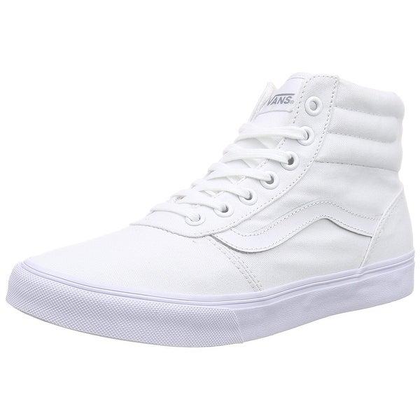 6175a4faed Shop Vans Milton Hi Women US 8.5 White Sneakers - White White - Free ...